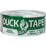 "Duck Basic Strength General Purpose Duct Tape, Poly, 1.88"" x 55 Yards, Gray (DX660)"