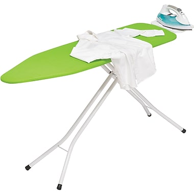 Honey Can Do Metal Iron Board, 4 Leg with Rest, Bright Green (BRD-01405)