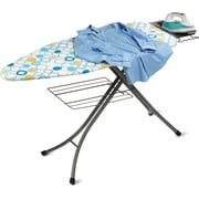 Honey Can Do Ironing Board with Rest And Shelf, Blue/Green/White (BRD-02955)