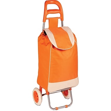 Honey Can Do Rolling Fabric Cart, Orange (CRT-02895)