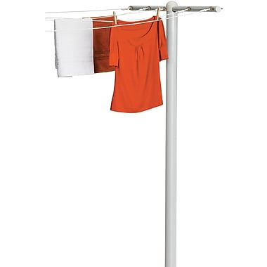 Honey Can Do 5 Line T-Post Dryer, White (DRY-01452)