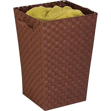 Honey Can Do Woven Strap Hamper, java brown (HMP-02981)