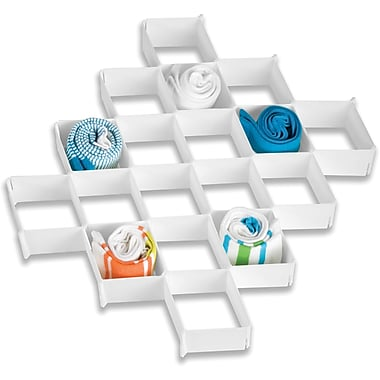 Honey Can Do 32 Compartment Drawer Organizer, white (SFT-01625)