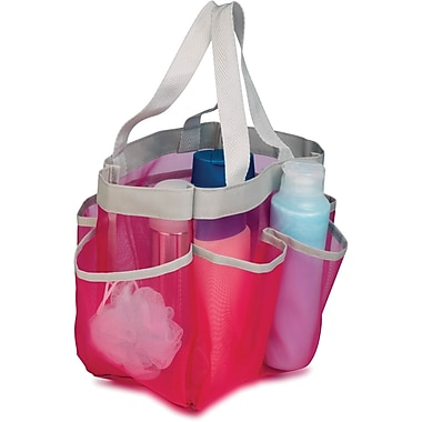 Honey Can Do 6 Pocket Shower Tote, Pink (SFT-02341)