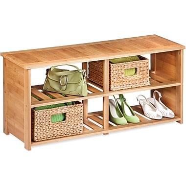 Honey Can Do Bamboo Shoe Bench, (SHO-02186), bamboo (SHO-02186)
