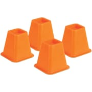 Honey Can Do Bed Risers, Set of 4, Orange (STO-01878)