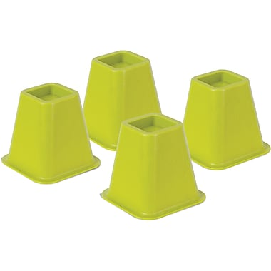 Honey Can Do Bed Risers, Set of 4, Green