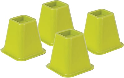 Honey Can Do Bed Risers, Set of 4, Green (STO-01879)