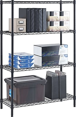 Whalen 54-Inch Wire Shelving Storage Unit, Black
