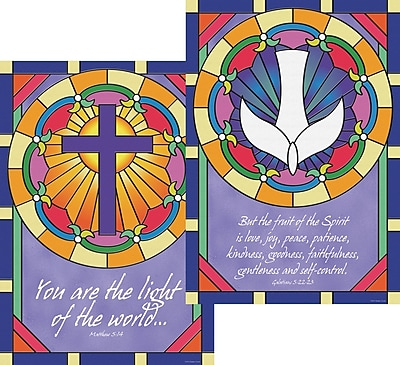 Barker Creek Stained Glass Poster Duet, 13 3/8