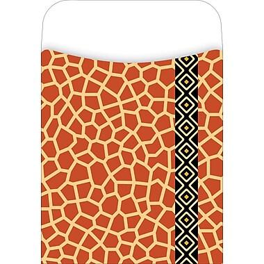 Barker Creek Library Pocket, Giraffe Design