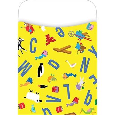 Barker Creek Library Pocket, ABC Animals Design