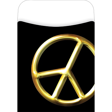Barker Creek Peel and Stick Library Pocket, Peace Symbol Design