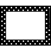 "Barker Creek Black and White Dot Name Tag, 3 1/2"" W x 2 3/4"" D"