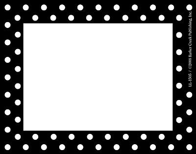 Barker Creek Black and White Dot Name Tag, 3 1/2