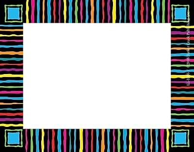 Barker Creek Neon Stripes Name Tag, 3 1/2