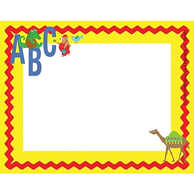 Barker Creek ABC Animals Name Tag, 3 1/2