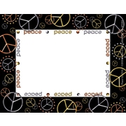 "Barker Creek Peace Name Tag, 3 1/2"" W x 2 3/4"" D"