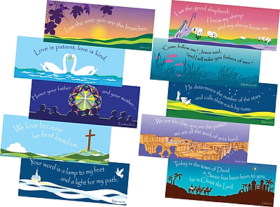 Barker Creek Scripture Chart Set, 22