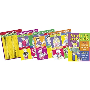 Barker Creek Verbs and Adverbs Chart Set, 17