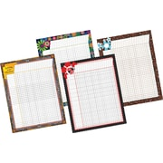 Barker Creek Incentive Chart Pack Includes Africa, Italy, Just Dotty, and Hot to Dot Charts, 17'' x 22''