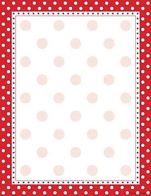 Barker Creek Red and White Dot Stationery