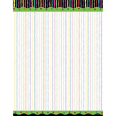 Barker Creek Neon Stripe Stationery Decorative Paper 8.5