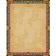 "Barker Creek Africa Stationery Decorative Paper 8.5"" x 11"", Brown (LL721)"