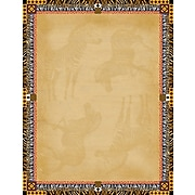 """Barker Creek Africa Stationery Decorative Paper 8.5"""" x 11"""", Brown (LL721)"""