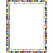 """Barker Creek Retro Stationery Decorative Paper 8.5"""" x 11"""", Multi Color (LL722)"""