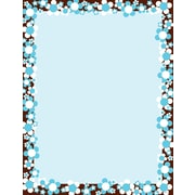 "Barker Creek Hot to Dot Bloom Stationery Decorative Paper 8.5"" x 11"", Blue (LL726)"