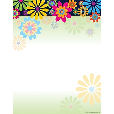 Barker Creek Italy Flowers Stationery Decorative Paper 8.5