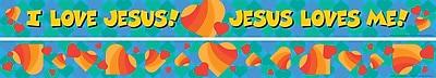 Barker Creek Jesus Loves Me Double Sided Trim, 35