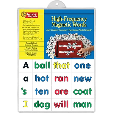Barker Creek Learning Magnets High Frequency Word, 208/Pack (LM2600)