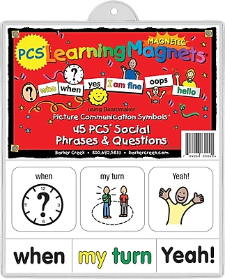PCS® Learning Magnets® 45 Social Phrase and Question, 3+ Age
