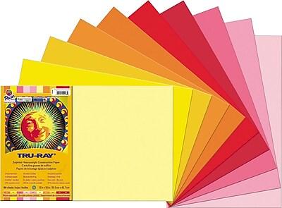 Tru-Ray® Sulphite Construction Paper, Warm, 18