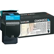 Lexmark C540H2CG Cyan Toner Cartridge, High Yield (C540H2CG)
