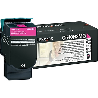 Lexmark C540H2MG Magenta Toner Cartridge, High Yield (C540H2MG)
