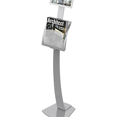 Deflecto® Add-On Pocket for Contemporary Sign Stand, Silver