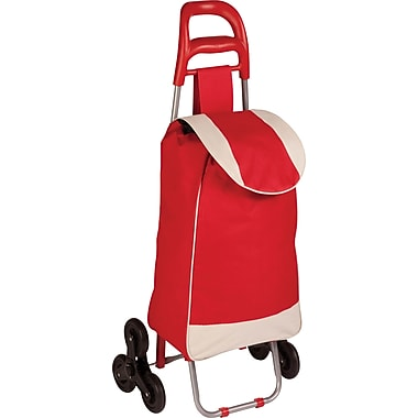 Honey Can Do Bag Cart with Tri-Wheels, Red (CRT-02894)