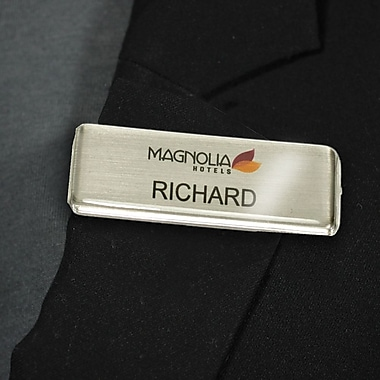 Magnetic name tags the mighty badge 900750 name tag bulk kit silver 50pack solutioingenieria Choice Image