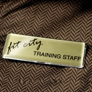 The Mighty Badge 900747 Name Tag Bulk Kit, Gold, 50/Pack