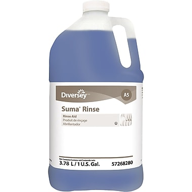Diversey™ Suma® Rinse A5 Dish Detergent, 1 Gallon, 4/Ct