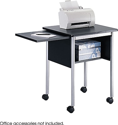 Safco 1873 Machine Stand With Slide-away Shelf, Black 148236