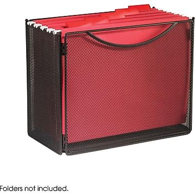Safco® Onyx™ 2169 Mesh Desktop Box File, Black