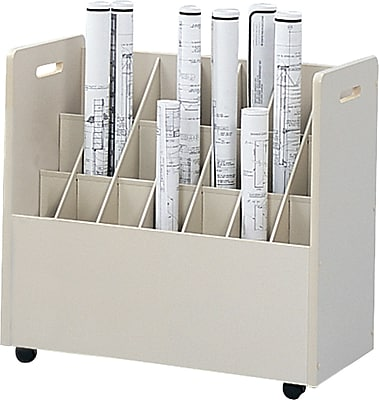 Safco Mobile Roll Drawer Mobile/Pedestal File, Putty/Beige,Specialty, 30.25''W (3043) 148241