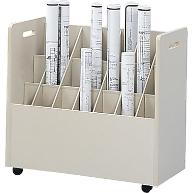 Safco Mobile Roll Drawer Mobile/Pedestal File, Putty/Beige,Specialty, 30.25''W (3043)