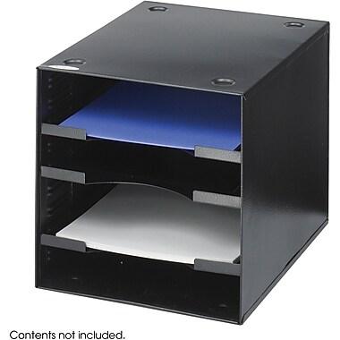 Safco Steel Desktop Organizer, Black, 10