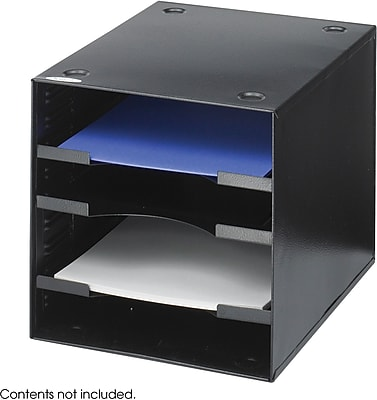 Safco Steel Desktop Organizer, Black, 10