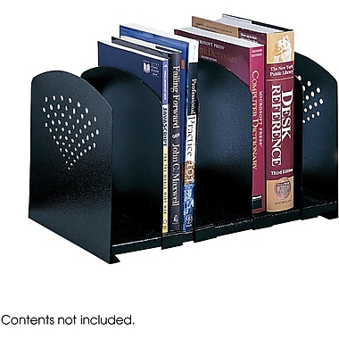 Safco® 3116 Adjustable Steel Book Rack, Black